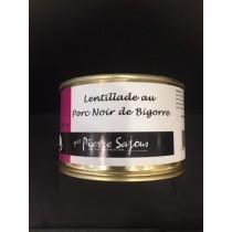 Lentillade au porc Noir de Bigorre en conserve de 420 g