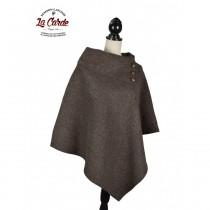 Poncho pur laine - Marron