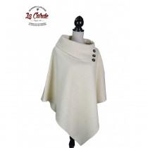 Poncho pur laine - blanc