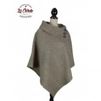 Poncho pur laine - Naturel